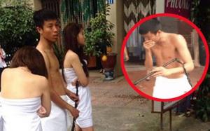 Sự thật chuyện hai nữ một nam khỏa thân trước nhà nghỉ gây xôn xao