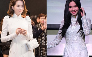 Cũng là áo dài trắng, nào ngờ Ngọc Trinh tóc ngắn lại xinh đẹp bội phần xưa kia