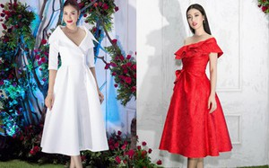 Bao nhiêu Hoa hậu hội tụ trên thảm đỏ sự kiện thời trang, nổi nhất vẫn là Phạm Hương và Đỗ Mỹ Linh