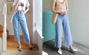 Muốn mặc quần jeans nhưng lại ngại chân ngắn, bạn cứ mua 7 kiểu quần này