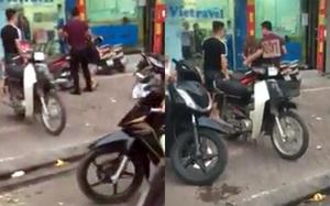 """Hà Nội: Dân mạng """"sôi tiết"""" cảnh chồng đánh vợ chảy máu trước mặt con trên phố Xã Đàn"""
