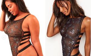 Sẽ thế nào nếu một cô nàng ngoại cỡ mô phỏng lại những thiết kế nội y nóng bỏng của Victoria's Secret
