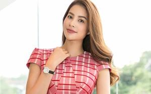 """Phạm Hương khoe """"dáng ngọc"""" trong bộ váy đỏ nổi bật"""