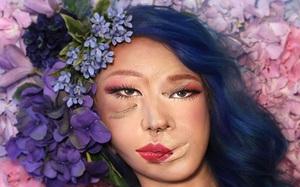"""Cô gái tự biến khuôn mặt mình thành """"quái nhân"""" nhờ cách trang điểm chẳng giống ai"""