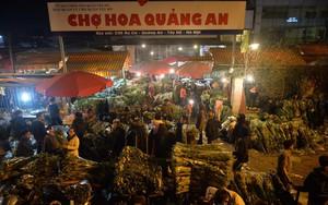 Chợ hoa Quảng An tấp nập đêm trước Giao thừa
