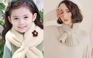 """Kiểu khăn quàng ngắn """"một mẩu"""" từ ngày xưa của bé lại đang được các chị em mê mệt"""