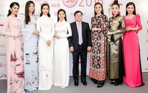 Huyền My lộng lẫy như nữ hoàng, Kỳ Duyên lạ lẫm với áo dài họa tiết và Mỹ Linh đẹp tinh khôi trong ngày khởi động HHVN 2018