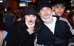 Giữa đêm muộn Đông Nhi ôm chặt Ông Cao Thắng ngay tại sân bay