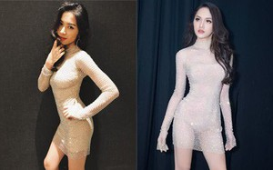 Không chỉ sang Thái cổ vũ, Hòa Minzy còn đặt may lại bộ đầm mà Hoa hậu Hương Giang từng mặc
