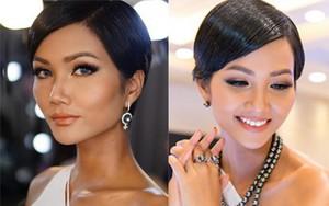 """Tóc mái chéo nữ tính là thế, nhưng Hoa hậu H'Hen Niê lại vuốt gel """"nặng nề"""" khiến nhan sắc giảm đi nhiều phần"""