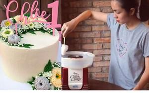 Tăng Thanh Hà trổ tài làm bánh kem mừng sinh nhật 1 tuổi của con gái bé bỏng