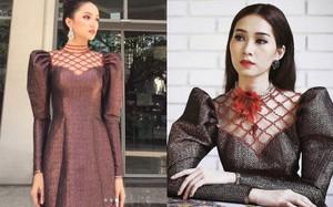 """Hương Giang và 2 nàng Hoa hậu khác cùng so bì nhan sắc trong 1 thiết kế váy, và kết quả đúng là """"bất phân thắng bại"""""""