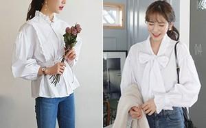 Sơmi trắng sẽ chẳng còn nhạt nhẽo nếu bạn biết đến 11 mẫu áo cực xinh và hay ho này