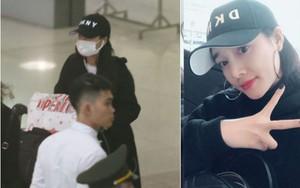 Nhã Phương xuất hiện ở sân bay, một mình về nước sau ồn ào Trường Giang - Nam Em