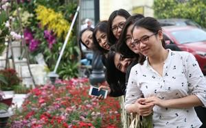"""Hà Nội: Nhầm lịch tổ chức lễ hội hoa anh đào, hàng trăm chị em ngậm ngùi """"check in"""" quanh hàng rào"""
