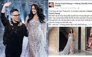 """""""Chị đại"""" Lukkade mặc đầm của NTK Chung Thanh Phong ghi hình The Face Thái 2018"""