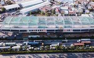 Cận cảnh mái vòm bằng thép công nghệ cao vừa lắp cho 2 nhà ga của tuyến Metro Bến Thành - Suối Tiên
