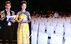 """Sát giờ lên sóng trực tiếp, chung kết Hoa hậu Biển Việt Nam toàn cầu """"ế khách"""" cả dãy ghế dài"""