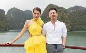 Á hậu Lệ Hằng sánh vai MC Phan Anh, khoe nhan sắc nổi bật giữa vịnh Hạ Long