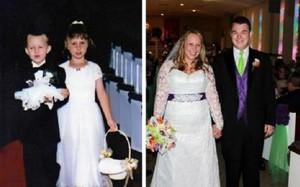 Hồi bé cùng làm phù dâu, phù rể trong đám cưới nhưng ghét chẳng thèm nhìn mặt, 17 năm sau cặp đôi viết nên câu chuyện tình yêu đẹp như mơ