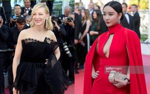 """Cannes ngày thứ 10: """"Phạm Băng Băng phiên bản lỗi"""" diện đầm đỏ khoe ngực, mỹ nhân nước Úc mặc áo quây quần dài bất chấp lệnh cấm"""