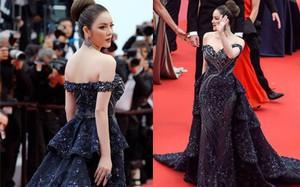 """Hết mang Vịnh Hạ Long lên thảm đỏ, Lý Nhã Kỳ lại hóa bà hoàng biển đêm """"nhấn chìm"""" các người đẹp khác trên thảm đỏ Cannes"""