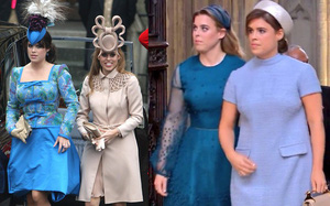 """2 nàng Công chúa """"hay làm màu"""" được mong chờ nhất tại đám cưới Hoàng gia lại gây thất vọng toàn tập vì… đội mũ quá bình thường"""