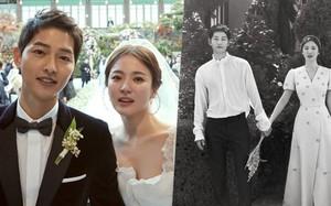 """Rần rần khi Song Hye Kyo khoe ảnh hoa ông xã tặng, cùng vợ chồng """"nàng cỏ"""" đăng ảnh kỷ niệm một ngày đặc biệt"""