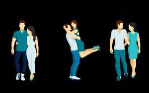 Chọn một cặp đôi bạn thấy không giống vợ chồng nhất, đáp án sẽ tiết lộ cách yêu của bạn