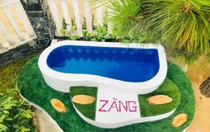 Chỉ với 1 triệu đồng, ông bố trẻ ở Phú Yên tự tay xây bể bơi chỉ trong nháy mắt cho hai con hút hàng trăm nghìn like của cư dân mạng