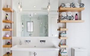 """4 mẹo """"dễ như ăn kẹo"""", ai cũng làm được để tận dụng tối đa không gian phòng tắm nhỏ"""