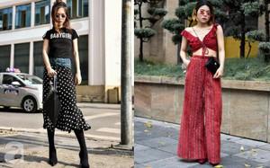 Mốt váy hạ cạp của Chi Pu được ứng dụng ngay trong street style của các quý cô miền Bắc tuần này