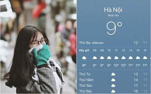 """Hình ảnh được chia sẻ nhiều nhất ngày hôm nay: Bảng báo nhiệt độ tụt xuống số 9, Hà Nội lạnh teo """"như Bắc Cực"""""""