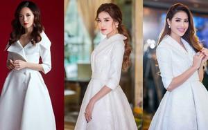 """Khi hai Bông hậu cùng diện một thiết kế váy, thì Midu đụng hàng liệu còn có """"cửa"""" cạnh tranh"""