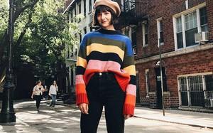 Khắp các thương hiệu thời trang, từ bình dân đến cao cấp đều đang lăng xê kiểu áo len màu sắc này