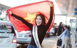 Á quân The Face - Tường Linh chính thức lên đường thi Hoa hậu Liên lục địa