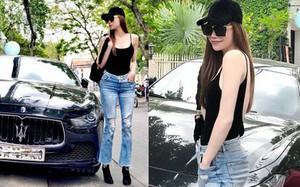 Đẳng cấp thời trang như Hà Hồ, mặc áo hai dây với quần jeans thôi cũng chất đừng hỏi
