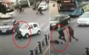 Ông vừa xuống ôtô cứu người, cháu lại chèn qua người nạn nhân lần hai