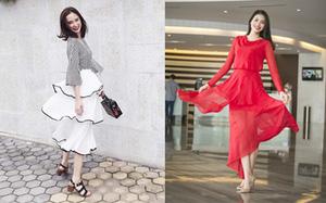 Không chỉ tín đồ thế giới, mà cả phái đẹp Việt cũng đang mê mẩn thiết kế váy xếp tầng siêu nữ tính