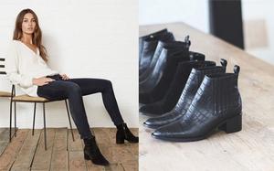 Còn chần chừ gì nữa mà không sắm ngay một đôi boots đen để diện mùa lạnh năm nay