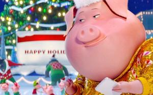 Cười ngất xem những chú heo vui nhộn hát hò mừng giáng sinh