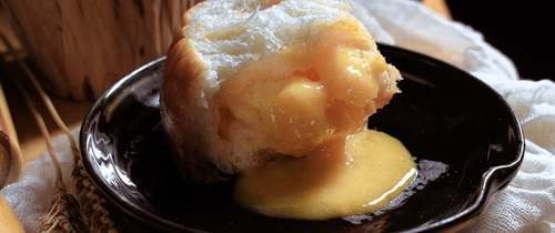 Làm bánh mì kim sa nhân trứng muối mặn ngọt tan chảy ngon mê tơi