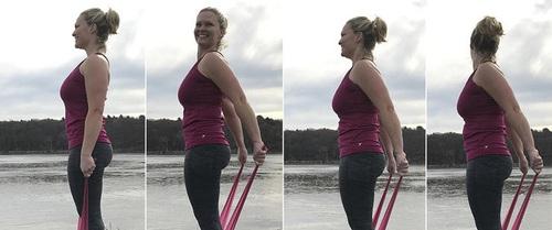 4 cách chống gù cho lưng và cải thiện vóc dáng nhờ... dải dây lụa