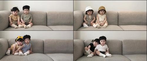 Sức hút của cặp song sinh chụp ảnh chỉ ngồi im, không cười mà vẫn khiến cộng đồng mạng mê mẩn