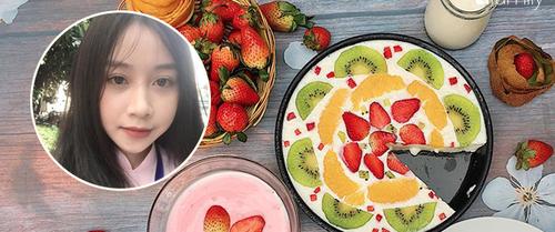 """Công thức làm sữa chua dẻo trái cây """"đốn tim"""" cộng đồng mạng của cô gái 9X xinh như hot girl"""