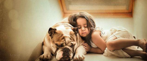 Ngắm những thiên thần bé nhỏ say gấc bên thú cưng đáng yêu