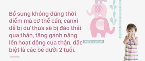 Cho trẻ dưới 2 tuổi uống thuốc bổ sung canxi - bố mẹ Việt đang làm hại con
