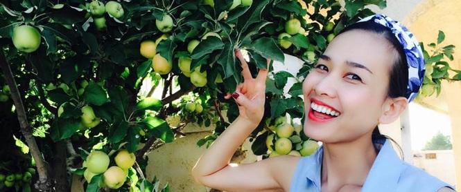 Cận cảnh khu vườn có nhiều loại rau củ Việt của hoa hậu Dương Mỹ Linh trên đất Mỹ