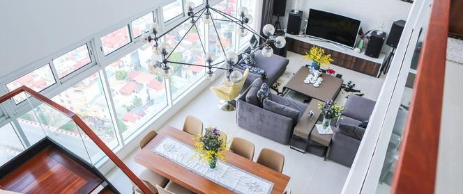 Căn hộ penthouse 300m² với hướng nhìn ra sông Hồng tuyệt đẹp của nữ giám đốc thời  trang