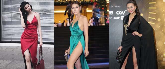 Người đẹp Việt khoe chân thon dài với váy xẻ cao, nhưng xẻ như thế nào là đủ?